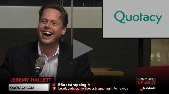 Image of Jeremy Hallett, CEO of Quotacy, Inc., from his Tastytrade.com interview.