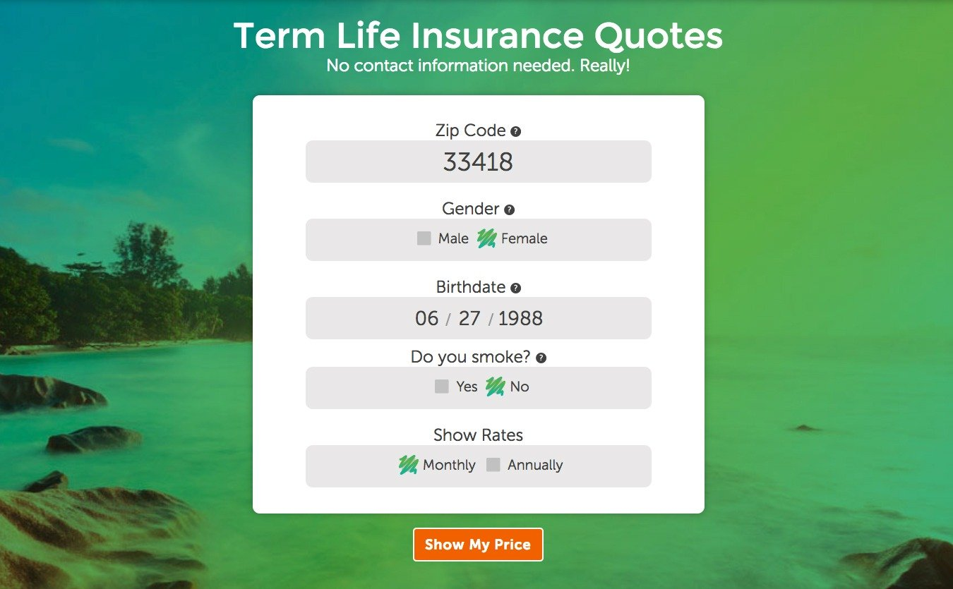 Image one of term life insurance quoting tool for Quotacy blog: How to Find the Best Priced Term Life Insurance Quotes.