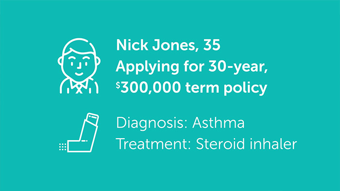 Quotacy life insurance asthma client case study