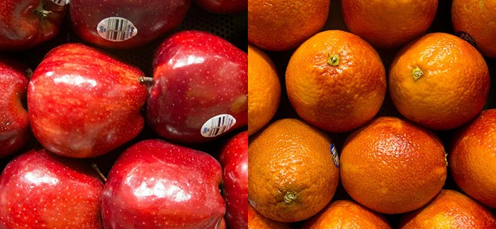 Image of apples and oranges side by side for Quotacy blog Do I Need Permanent Insurance?