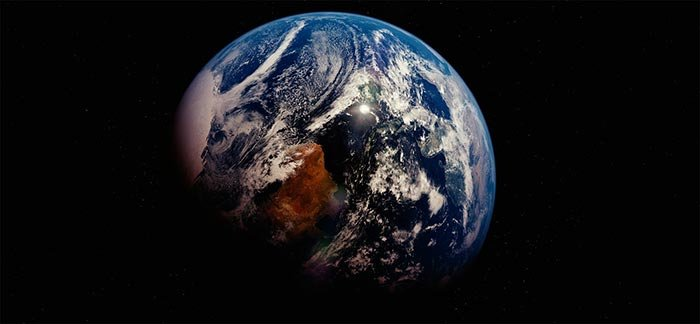 Image of planet earth viewed from space for Quotacy blog Life Insurance for Non-U.S. Residents.