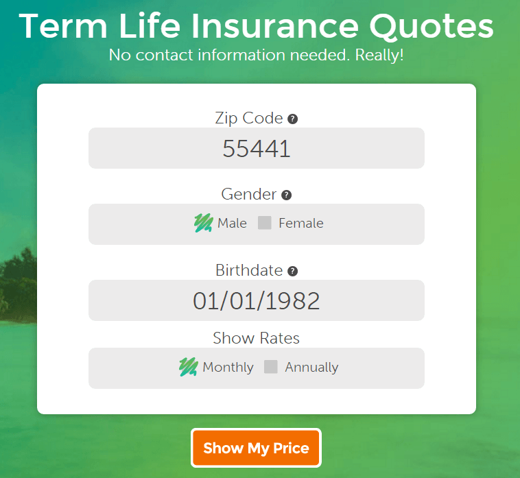 term life insurance quoting tool