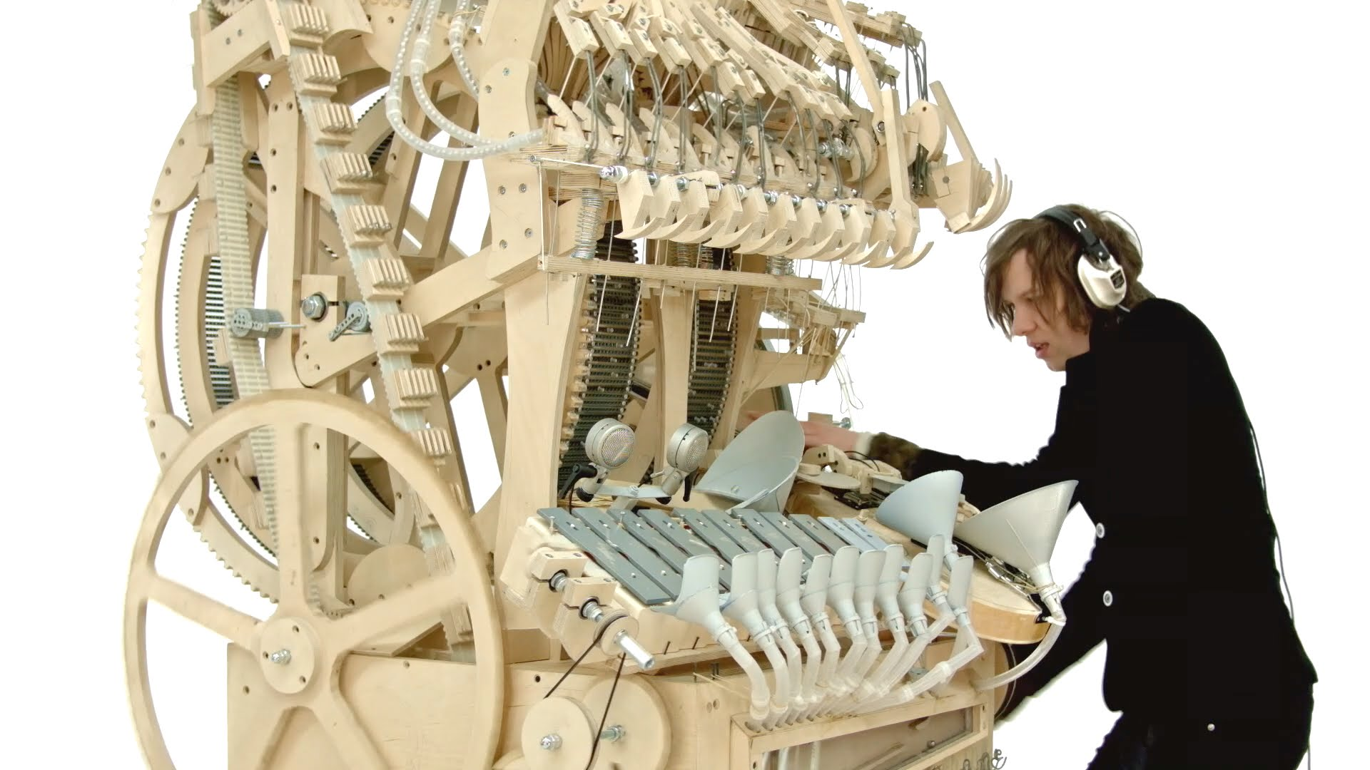 Swedish Folktronica band Wintergatan makes their living by creating weird and eccentric instruments.