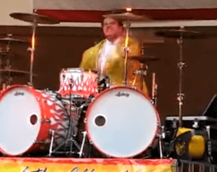 You may have seen this drummer before, but his performance is still excellent.