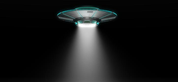 Spaceship and light beam for Quotacy blog It's Extraterrestrial Abduction Day Don't Forget to Pay Your Life Insurance Premium