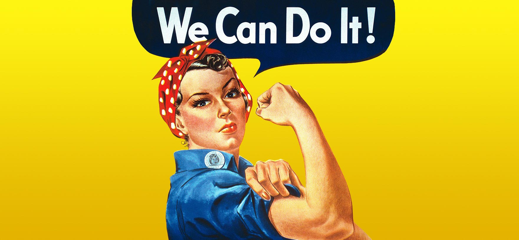 Image of Rosie the Riveter for Quotacy blog: Working Women: What is Term Life Insurance and Why It Matters.