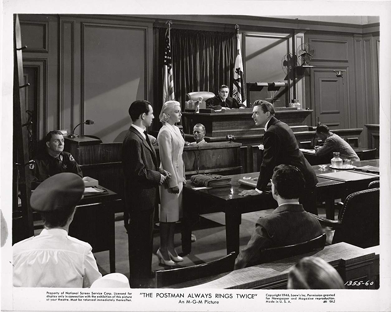 Image from film, The Postman Always Rings Twice, for Quotacy blog: Term Life Insurance on the Silver Screen.