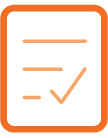 Quotacy, Inc. orange icon set: life insurance policy inforce.