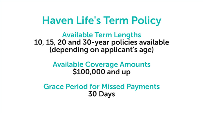 Haven Life term policy specs