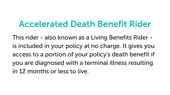 Haven Life accelerated death benefit rider