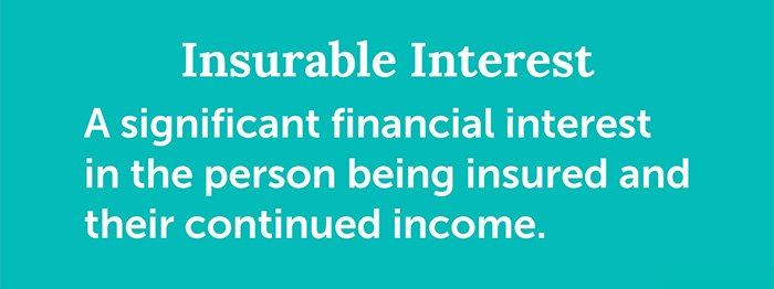 slide with definition of insurable interest