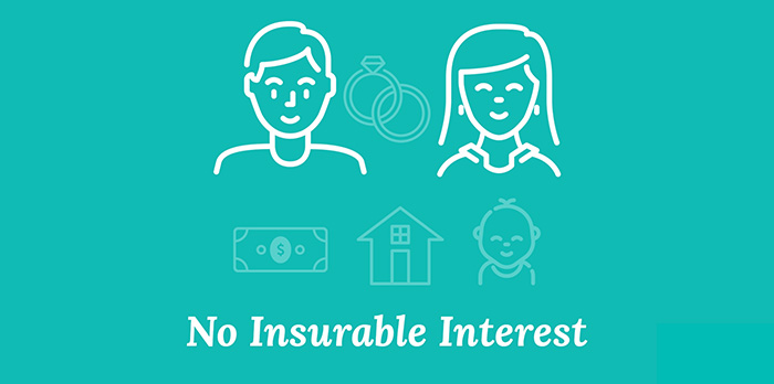 slide illustrating couples without insurable interest