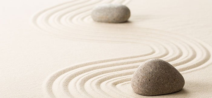 Sand garden portraying calmness for Quotacy blog How Does Anxiety Affect Buying Life Insurance
