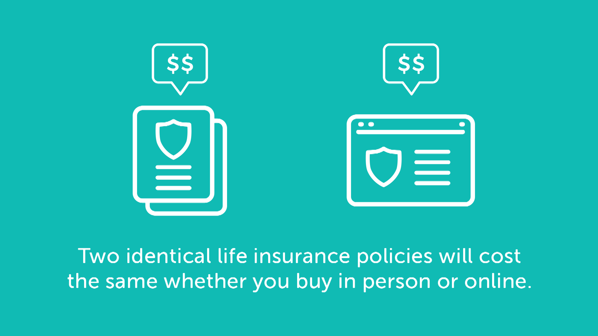 buying life insurance online is the same price as buying from agent