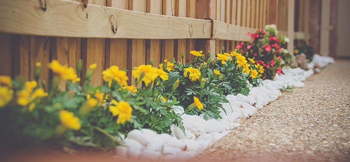 landscaped flowers for Quotacy blog Easy DIY Summer House Projects That Will Increase Equity