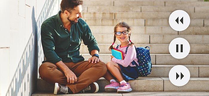 dad with daughter for Quotacy blog Life Insurance: Things to Consider Before, During, and After