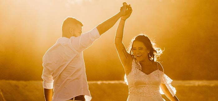 newlyweds dancing for Quotacy blog Why Life Insurance Is Important When You Remarry